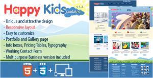 دانلود قالب سایت چندمنظوره Happy Kids نسخه 1.3.1