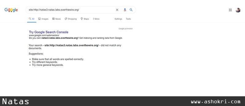 جستجوی ناتاس 3 در گوگل